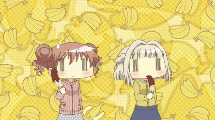 This is the first time I've ever seen a girl in anime being forced to eat a banana not being sexual in the slightest.