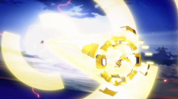 Even Nanoha would be jealous of how quickly Himawari fired off this attack.