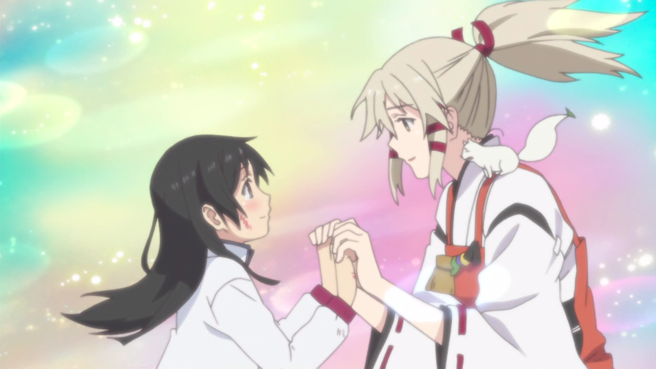 Anime Characters Holding Hands : Final impressions inari konkon koi iroha the glorio