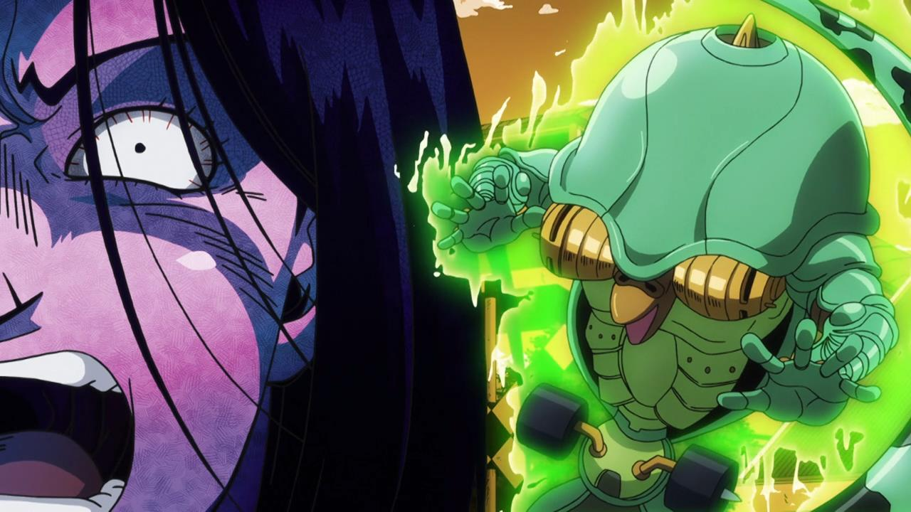 Jojo Diamond Is Unbreakable Episode 7 The Glorio Blog It is clad in tall headgear, part of a mask; jojo diamond is unbreakable episode 7